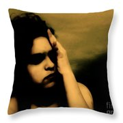 It Hurts Because It Matters Throw Pillow