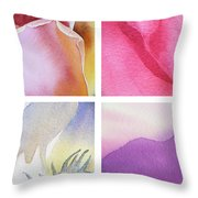 It Is All In Petals Throw Pillow