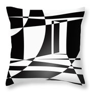 It Isn't Always As Simple As Black And White Throw Pillow