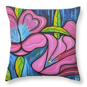 It Was Pink And Blue Throw Pillow