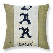 Italian Bar Sign Dsc02638 Throw Pillow