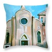 Italian Church Throw Pillow by Filip Mihail