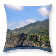 Italian Coastline Throw Pillow