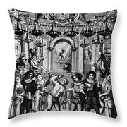 Italian Comedians, 1689 Throw Pillow