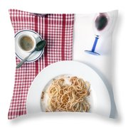 Italian Food Throw Pillow by Joana Kruse