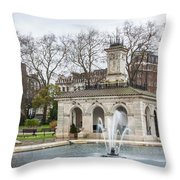 Italian Fountain In London Hyde Park Throw Pillow by Semmick Photo