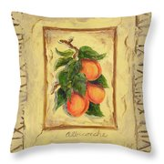 Italian Fruit Apricots Throw Pillow by Marilyn Dunlap