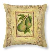Italian Fruit Pears Throw Pillow