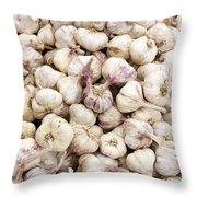 Italian Garlic Bulbs Throw Pillow