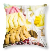 Italian Gelatto Ice Cream Throw Pillow
