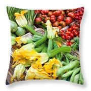 Italian Market Throw Pillow