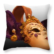 Italian Masquerade Throw Pillow