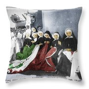 Italian Nuns Throw Pillow
