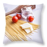 Italian Pasta Meal Throw Pillow
