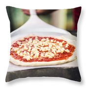 Italian Pizza Ready For The Oven Throw Pillow