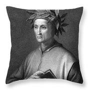 Italian Poet Dante Alighieri Throw Pillow