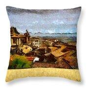 Italian Rooftops Throw Pillow