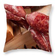 Italian Sausage Throw Pillow