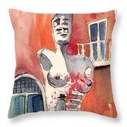 Italian Sculptures 05 Throw Pillow