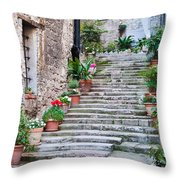 Italian Stairway Throw Pillow