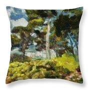 Italian Stone Pine Throw Pillow