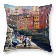 Italian Town Throw Pillow