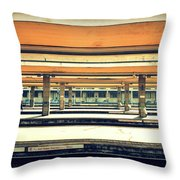 Italian Train Station Throw Pillow