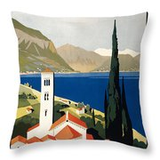 Italian Travel Poster, C1930 Throw Pillow