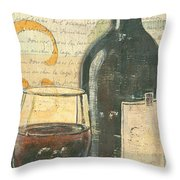 Italian Wine And Grapes Throw Pillow
