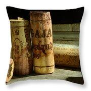 Italian Wine Corks Throw Pillow