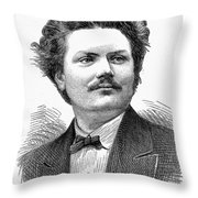 Italo Campanini (1845-1896) Throw Pillow