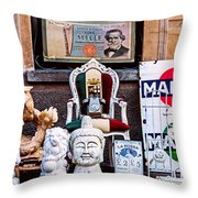 Italy Memorabilia Throw Pillow