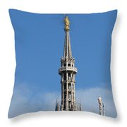 The Spire Of Milan Cathedral Throw Pillow