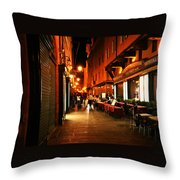 Bologna Italy Night  Scene Throw Pillow