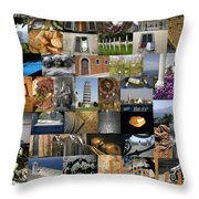 Italy Poster Throw Pillow