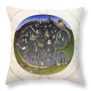 Italy: Rome, 15th Century Throw Pillow