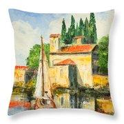 Italy - San Vigilio Throw Pillow