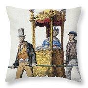 Italy Sedan Chair Throw Pillow