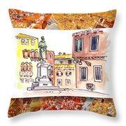 Italy Sketches Venice Piazza Throw Pillow