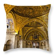 Italy - St Marks Basiclica Venice Throw Pillow
