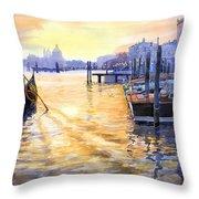 Italy Venice Dawning Throw Pillow