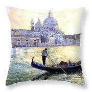 Italy Venice Morning Throw Pillow
