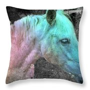 It's 1970 And I Want A Groovy Rainbow Pony Throw Pillow