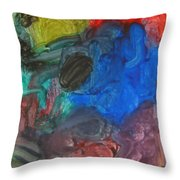 It's A Circle - Abstract Painting From A 2 Yr Old Boy Throw Pillow