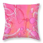 It's A Girl Party Throw Pillow