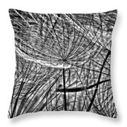 It's A Jungle In There Bw Throw Pillow by Steve Harrington
