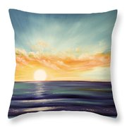 It's A New Beginning Somewhere Else Throw Pillow by Gina De Gorna