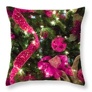 It's A Pink Christmas Throw Pillow