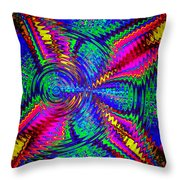 It's A Rainbow World Throw Pillow