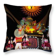 It's A Small World With Dancing Mexican Character Throw Pillow